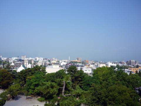 大垣城天守最上階からの眺め