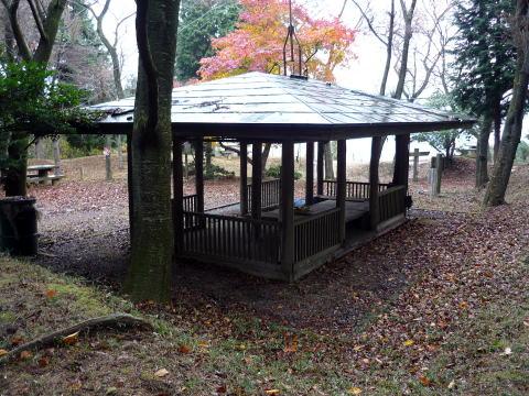 松尾山の休憩所