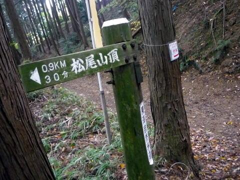 松尾山の看板