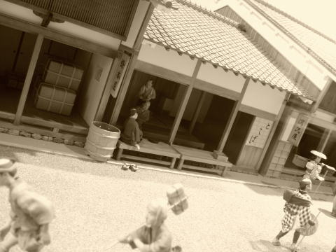 江戸時代の城下町の様子