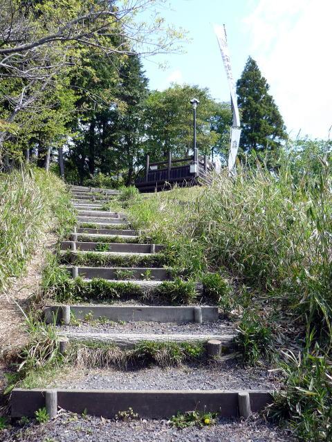 笹尾山の階段