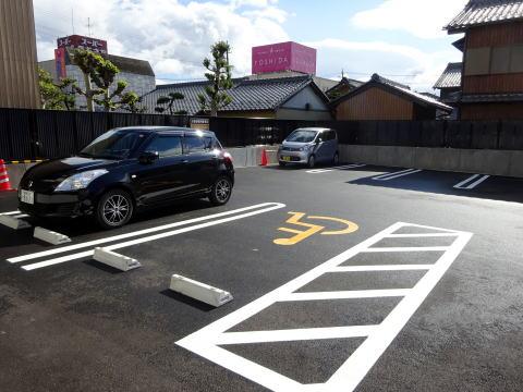 関ヶ原駅前観光交流館の駐車場
